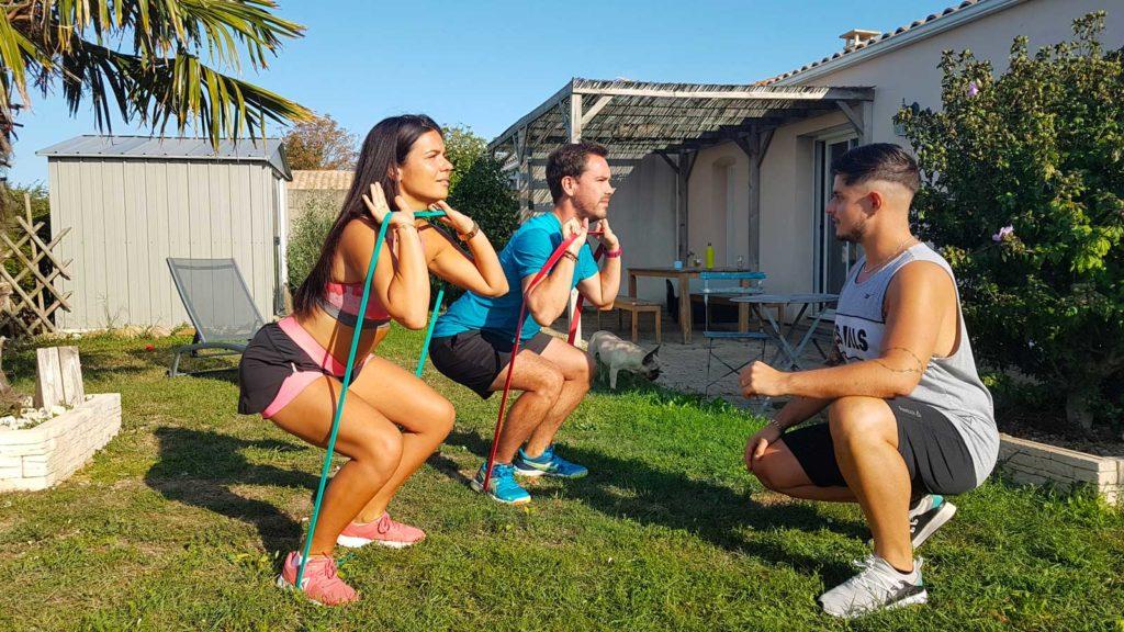 Entrainement sportif à domicile, seul ou à deux